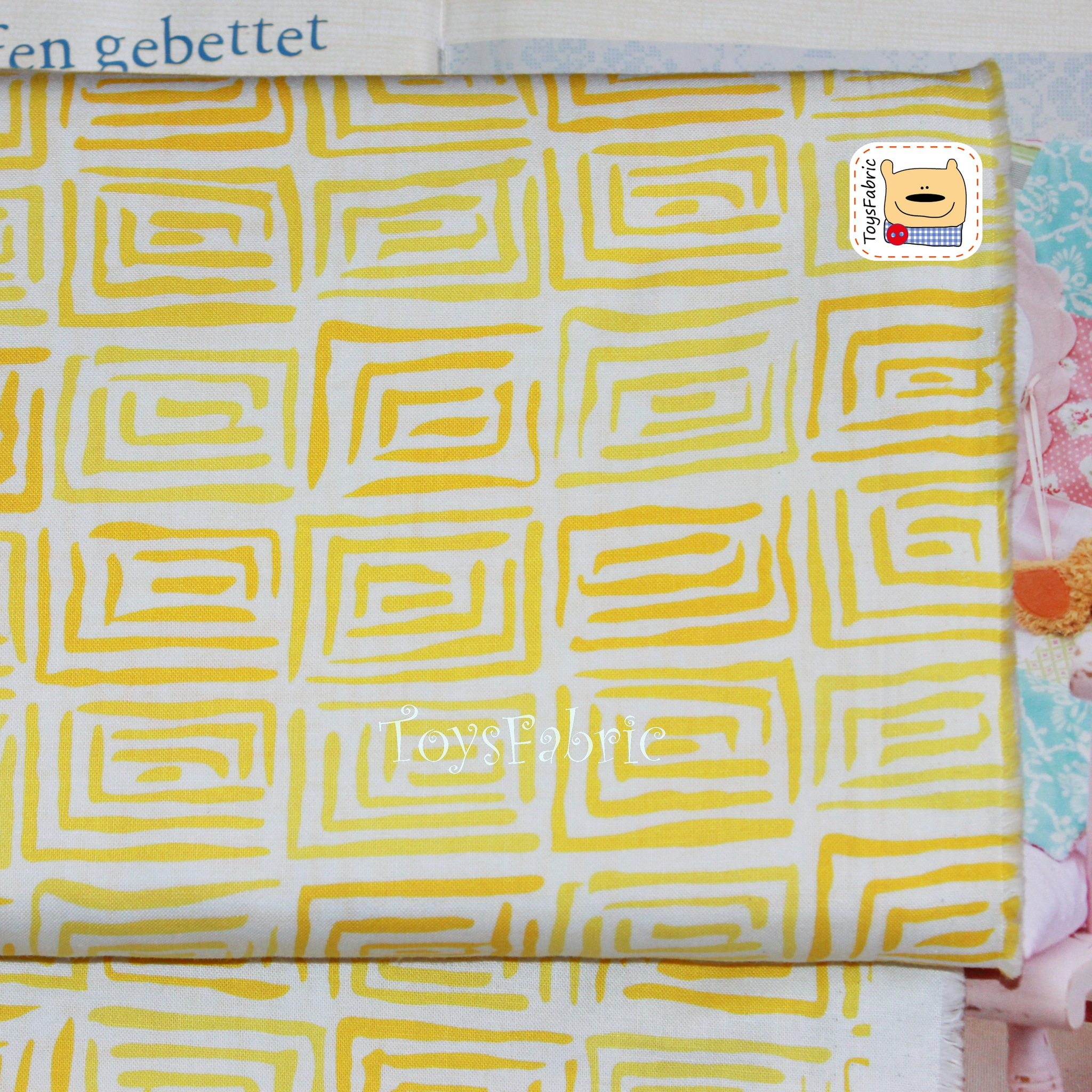 Ткань для пэчворка 20627 (желтая геометрия) 45х55см