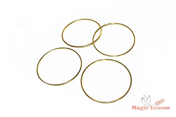 Фокус - магические соединяющиеся кольца в золотом цвете