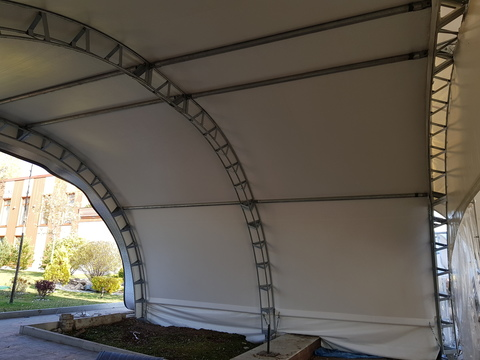 Арочный шатер 8х11