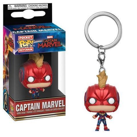 Брелок Funko POP! Captian Marvel: Captian Marvel with Helmet