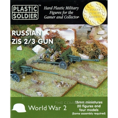 15mm Russian Zis 2 and 3 anti tank/field gun