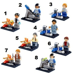 Minifigures Jurassic Park Blocks Building