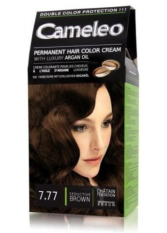 Delia Cosmetics Cameleo Крем-краска для волос тон 7.77 соблазнительный коричневый