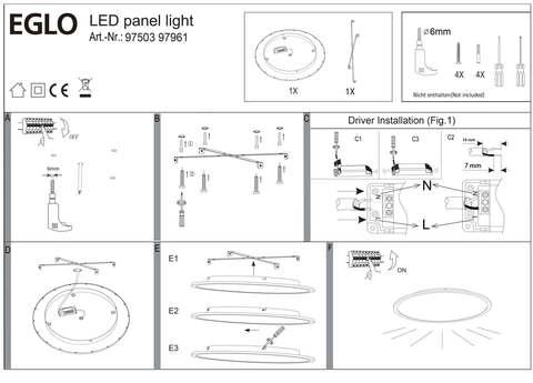 Светильник cветодиодный потолочный диммируемый Eglo SARSINA 97503 3