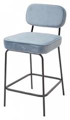 Барный стул MEMPHIS G062-43 серо-голубой металлик, велюр