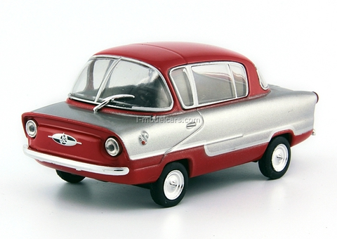 IMZ-NAMI-A50 Belka (Squirrel) silver-red 1:43 DeAgostini Auto Legends USSR #115