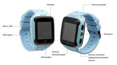 Часы Smart Baby Watch G100 (T7) с GPS трекером