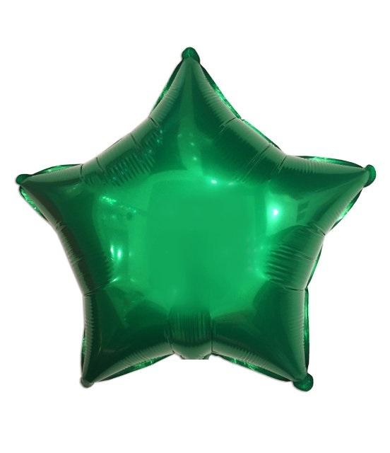 Шар Звезда зеленая 46 см