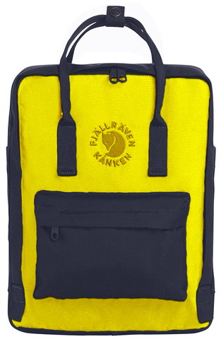 Рюкзак Fjallraven Re-Kanken Yellow + Navy Blue