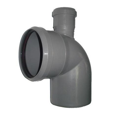 Отвод 87° с патрубком сверху СИНИКОН - 110 x 50 (для системы внутренней канализации)