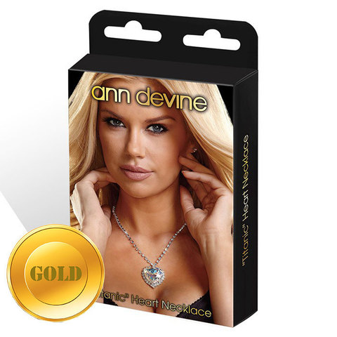 Золотистая цепочка с сердцем  TITANIC  Heart Necklace
