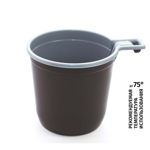 Чашка кофейная Бюджет 200 мл, двухцветная, ПП 1250 шт/кор