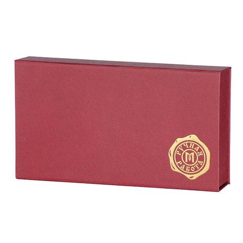 Коробочка подарочная для кошельков (бордо)