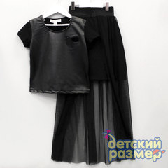 Костюм (юбка разрез спереди)