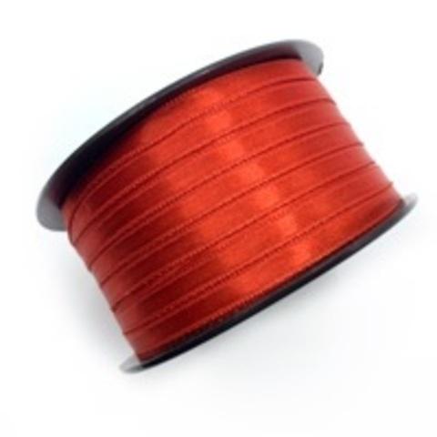 Атласная лента 6 мм, красная