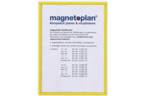 Магнитная рамка, А4, желтая, 5шт/уп