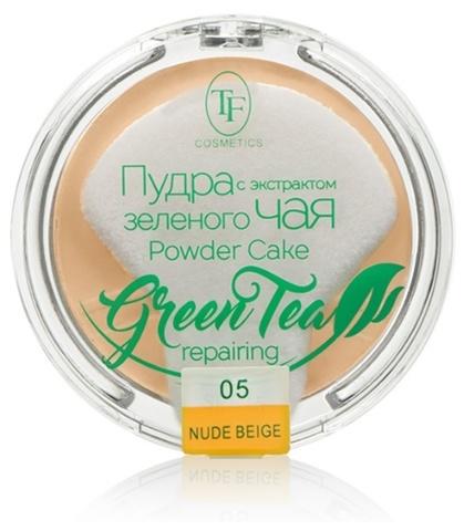 ТФ Пудра компактная для лица с экстрактом зеленого чая тон 05 естественный беж  ТР-16