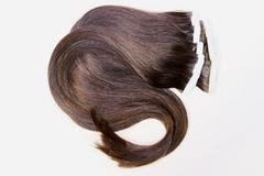 шоколадный цвет волос на лентах