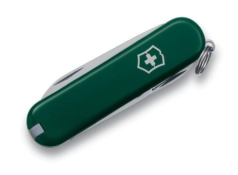 Нож-брелок VICTORINOX Classic SD 58 мм 7 функций зелёный VC6223.4