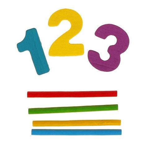 Набор счётных палочек, резных цифр и знаков, 120 элементов 3