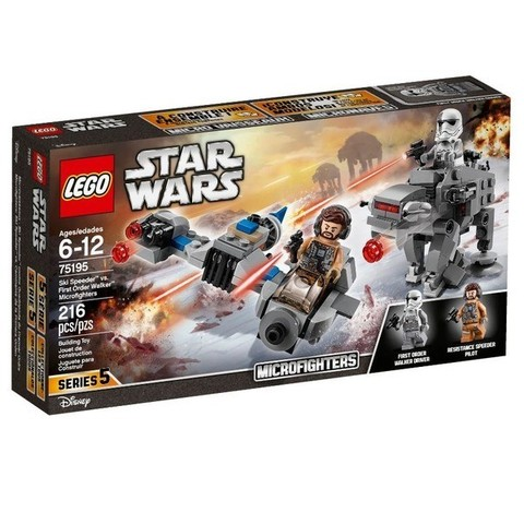 LEGO Star Wars: Бой пехотинцев Первого Ордена против спидера на лыжах 75195 — Microfighters — Ski Speeder vs. First Order Walker — Лего Стар ворз Звёздные войны