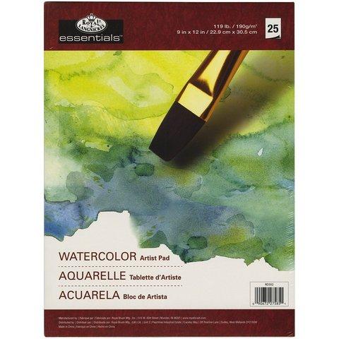 Блокнот для зарисовок Watercolor Artist Pad 23х30,5см  25л.