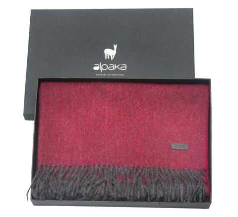 Плед-шарф шерстяной 65x200 Alpaka вишневый