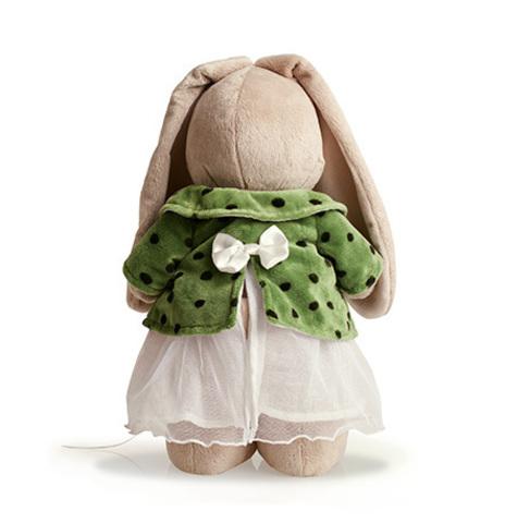 Зайка Ми в зеленом пальто и белом платье (большая)