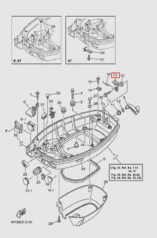 Фиксатор защелки колпака для лодочного мотора T40 Sea-PRO (13-13)