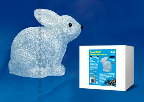 ULD-M2724-032/STA WHITE IP20 RABBIT Фигура светодиодная «Кролик», 32 светодиода, 27*14*24 см, цвет свечения-белый, IP20.