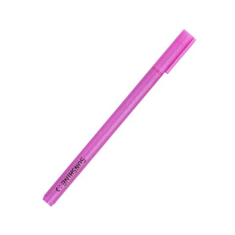 Ручка черная гелевая Sunshine Pink