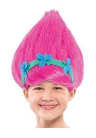 Тролли детский парик Принцесса Розочка