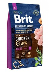 Корм для собак мелких пород, Brit Premium by Nature Adult S