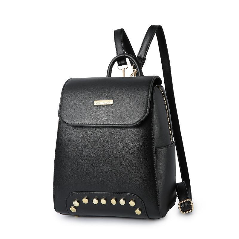 Женский средний рюкзак 22х25х12 см чёрный 2576-1