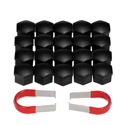 Колпачки чёрные пластиковые для болтов и гаек в блистере 20+1 ключ=21мм