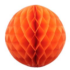 Бумажное украшение шар 40 см оранжевый