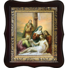 Снятие Со Креста. Икона Иисуса Христа на холсте.