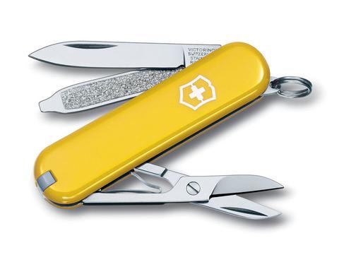Нож-брелок VICTORINOX Classic SD 58 мм 7 функций жёлтый VC6223.8