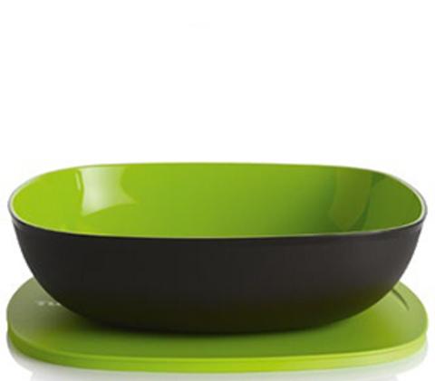 Аллегро чаша 2,5л в зеленом цвете квадратная