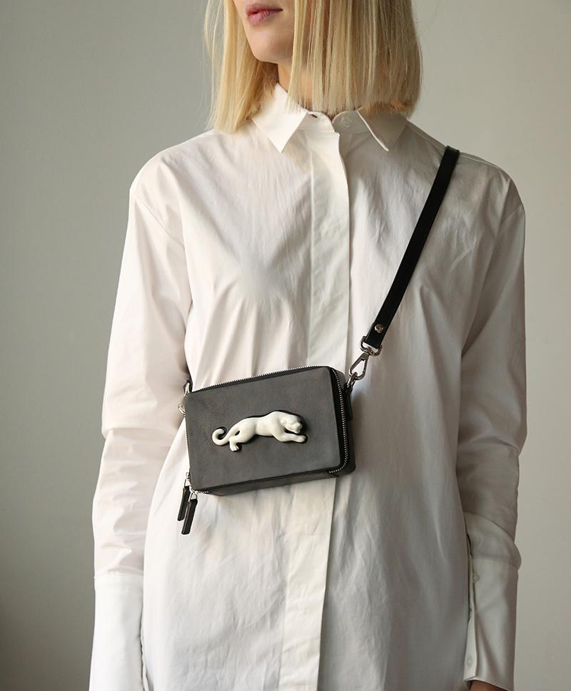 Прямоугольная сумка Panter Mini Vegetable Black