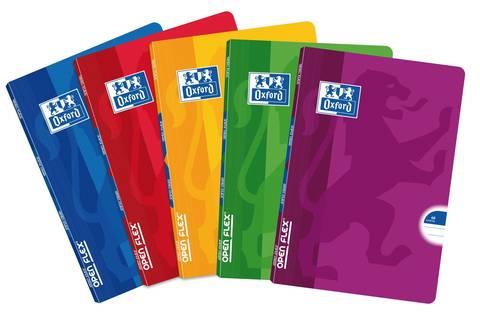Тетрадь общая Open Flex A5 линейка 60л 90г/м2 5 штук в упаковке (цвета ассорти)