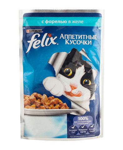Felix кусочки в желе для кошек (форель) 85 г