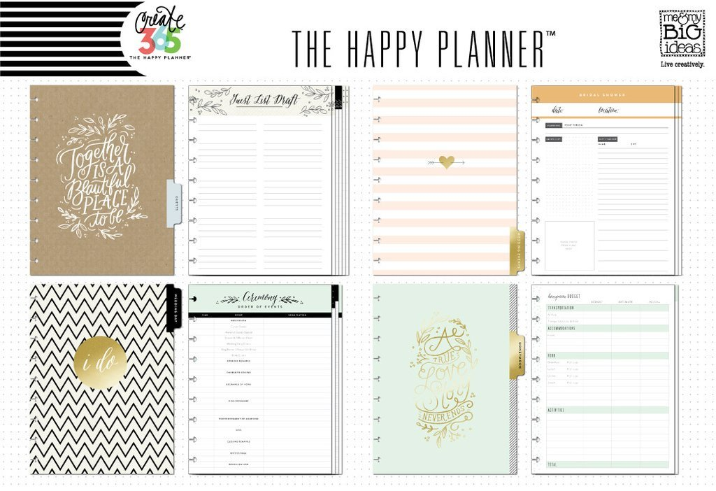 Внутренний блок  Create 365 Happy Planner Extension Pack-  Wedding