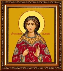 Сосанна Римская, дева, мученица. Икона на холсте.