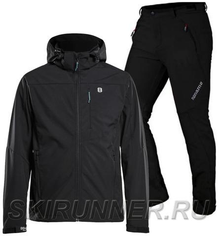 Лыжный утепленный костюм 8848 Altitude Padore Softshell Black Noname Grassi 18