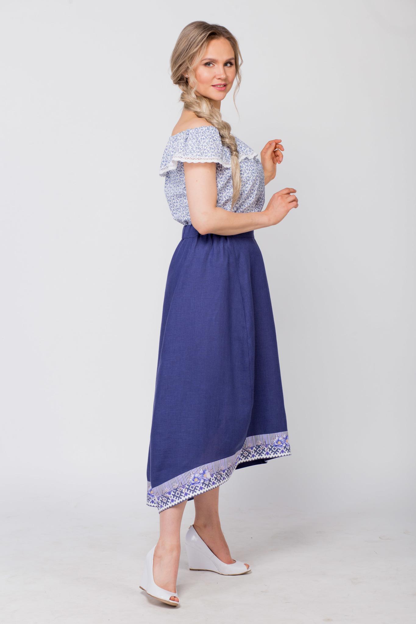 Блуза хлопковая Есения вид сбоку