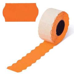 Этикетки 26х16 оранжевые волнистый край (Prix), 800