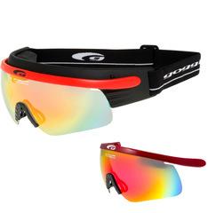 Комплект лыжные очки-маска Goggle Shima+ Red-Mirror + Линза Red-Rainbow