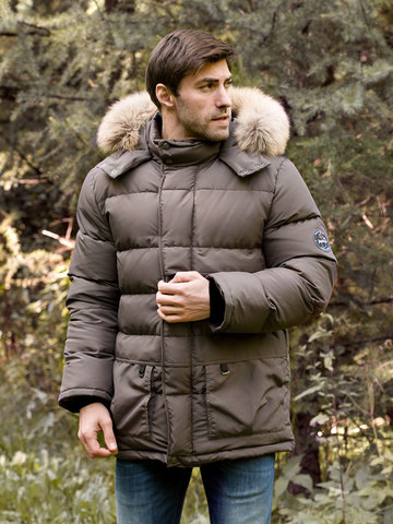 Joutsen пуховик Arctic Star Fur трюфель