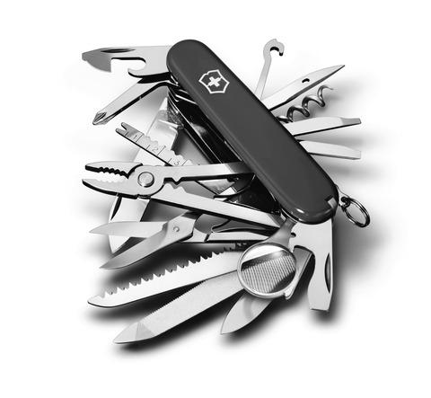 Нож Victorinox SwissChamp, 91 мм, 33 функции, черный*